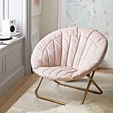 Velvet Channel Stitch Hang-A-Round Chair