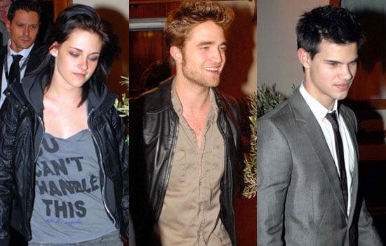 Photos of Robert Pattinson, Kristen Stewart, Taylor Lautner at Restaurant in Madrid