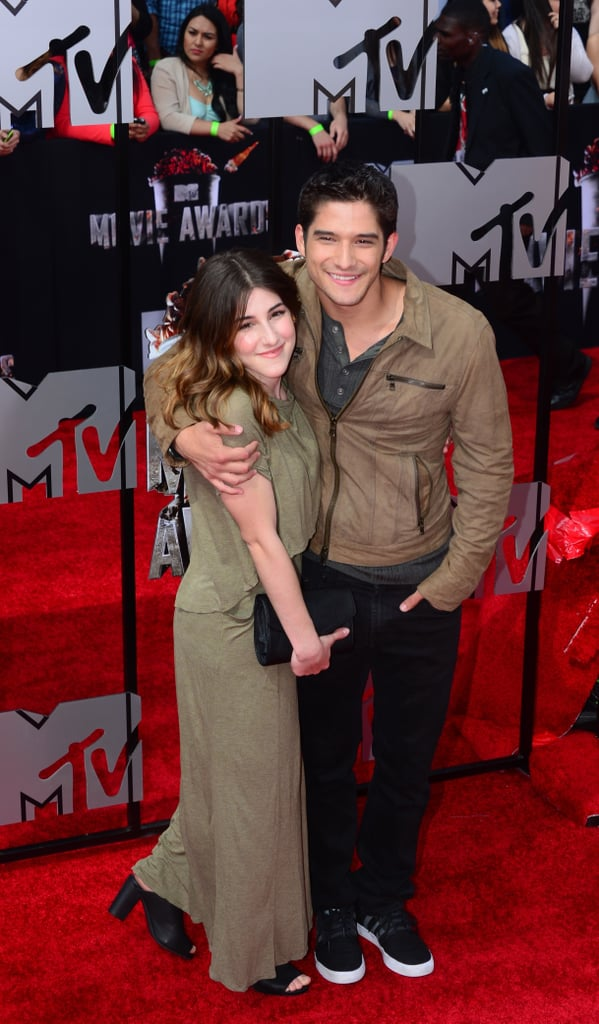 Tyler Posey hugged Seana Gorlick on the red carpet.