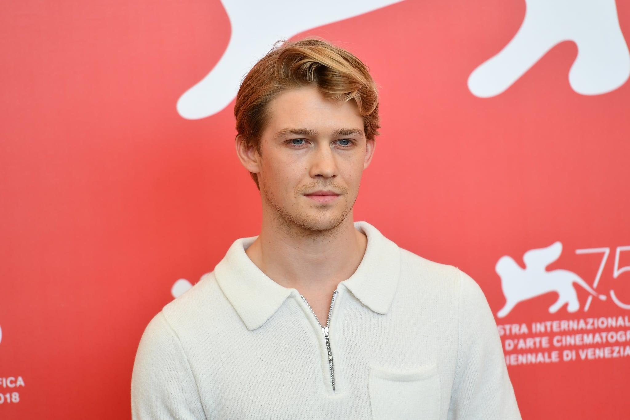 VENICE, ITALY - AUGUST 30:  Joe Alwyn  attends 'The Favourite' photocall during the 75th Venice Film Festival at Sala Casino on August 30, 2018 in Venice, Italy.  (Photo by Dominique Charriau/WireImage)