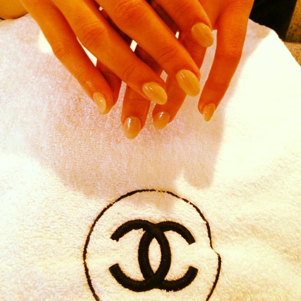 Lea Michele showed off a gorgeous Chanel manicure. Source: Instagram user msleamichele