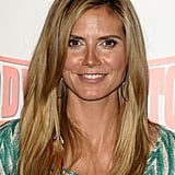 Heidi Klum With Dirty Blond Hair and Long Dark Roots