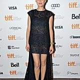 Leave it to Marion Cotillard to stay loyal to the House of Dior in a lace high-low gown at the Blood Ties premiere in Toronto. Cap-toe pumps and a pop of pink lipstick were lovely as well.