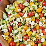 Recipe for a Crowd: Tomato Salad With Chickpeas, Avocado, and Cucumber