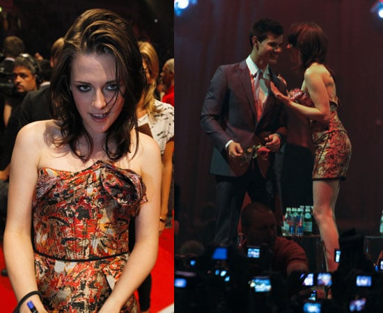 Pictures of Kristen Stewart and Taylor Lautner at Stockholm Fan Event