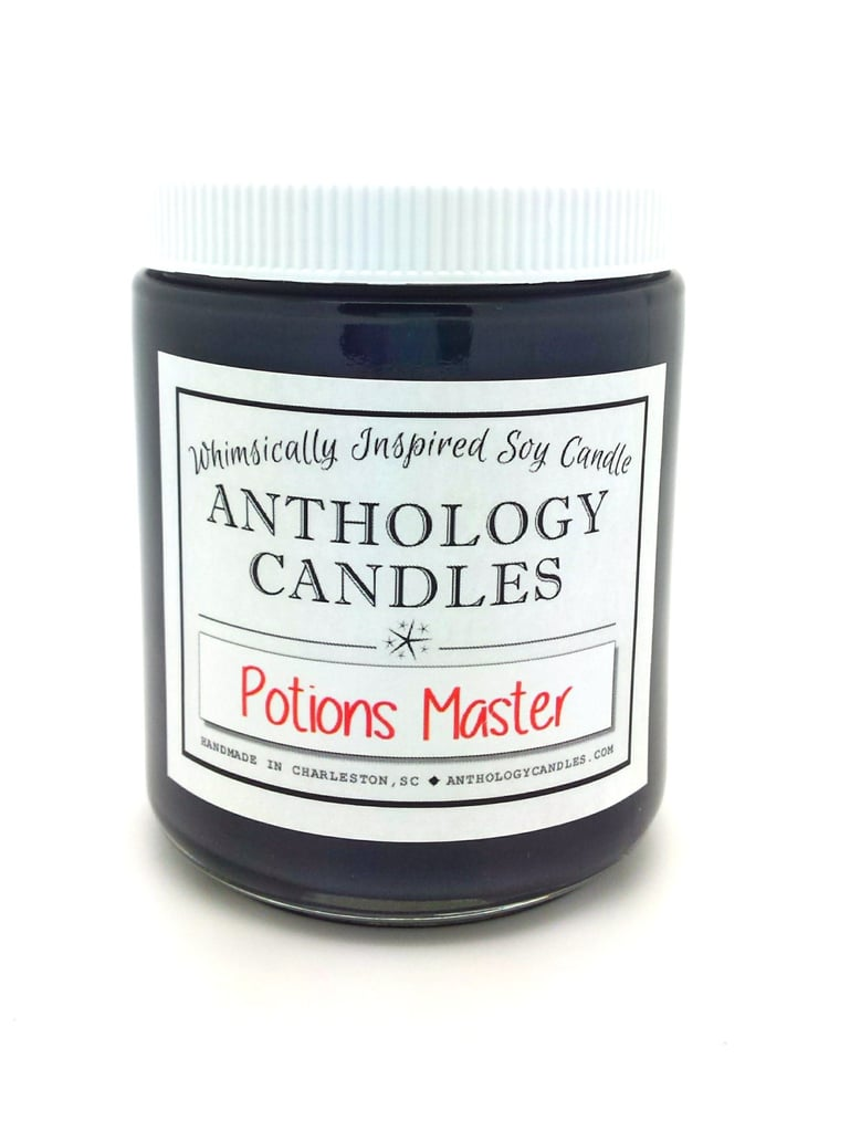 Potions Master candle ($16) with dragon's blood, moldy wood, mildew, fiery steam notes