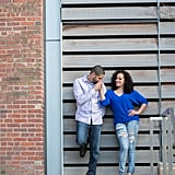This Couple Went Both Glam and Casual For Their Adorable Engagement Shoot in the City