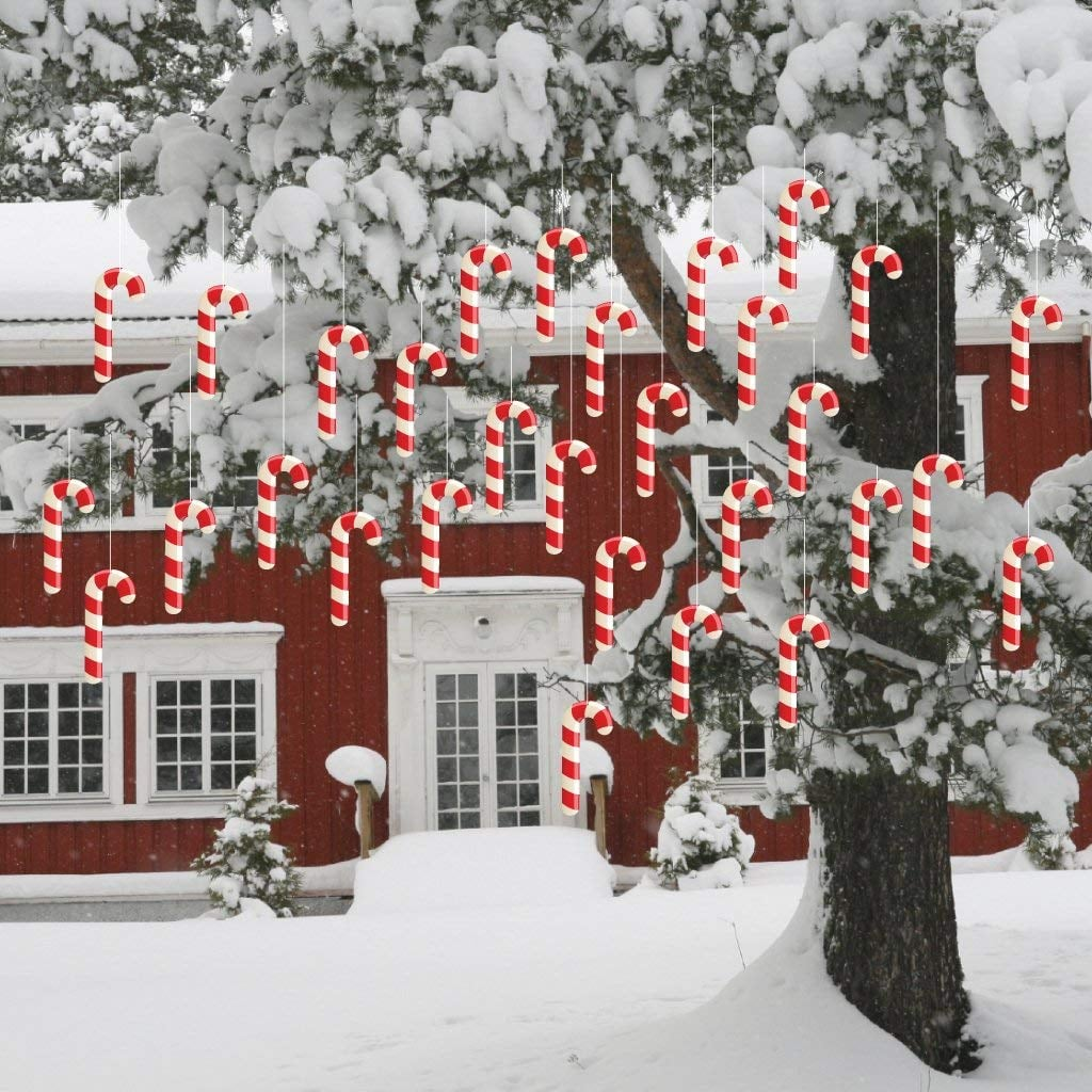 Hanging Outdoor Candy Canes