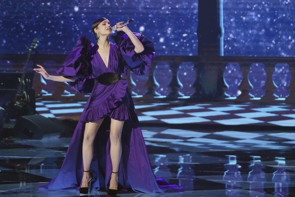 Sofia Carson's Purple Elie Saab Dress on American Idol