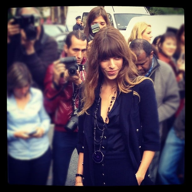 Lou Doillon pulled off effortless beauty at Chanel's Paris Fashion Week show.