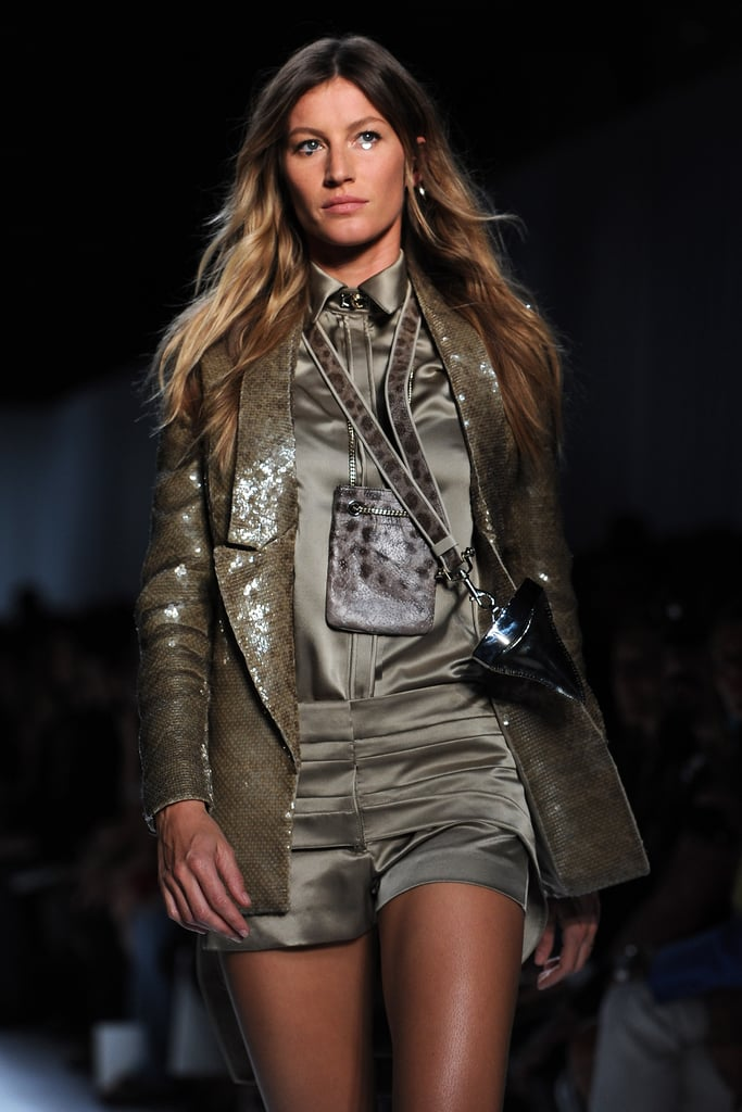 Gisele Bundchen models in Paris.