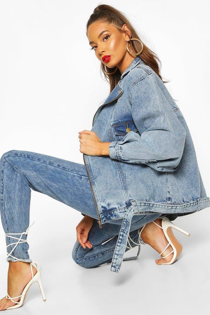Boohoo Oversized 80's Style Denim Jacket
