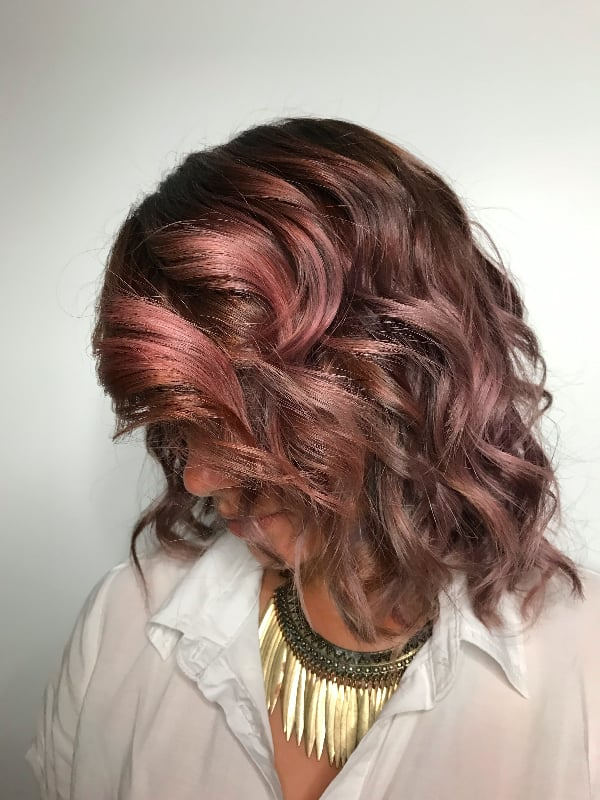 Chocolate Mauve With A Ring Light Chocolate Mauve Hair