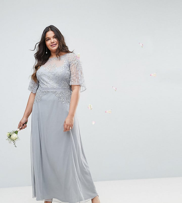 Plus size wedding guest dresses popsugar fashion for Lace maxi wedding dress
