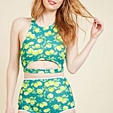 ModCloth Parasail Away With Me Swimsuit Bottom in Lemons