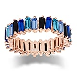 Adinas Jewels Crystal Ombré Blue Eternity Band