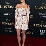 Pictured: Maia Mitchell at The Lion King premiere in Hollywood.