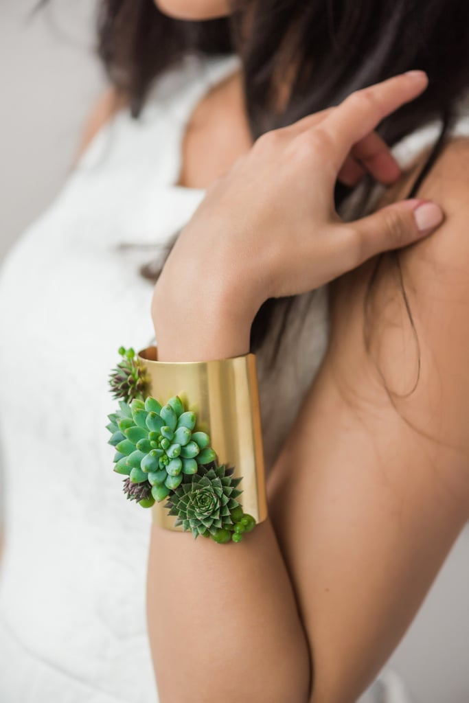 Succulent Corsage Statement Bracelet ($52)