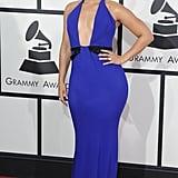 Alicia Keys at the Grammy Awards in Armani Privé