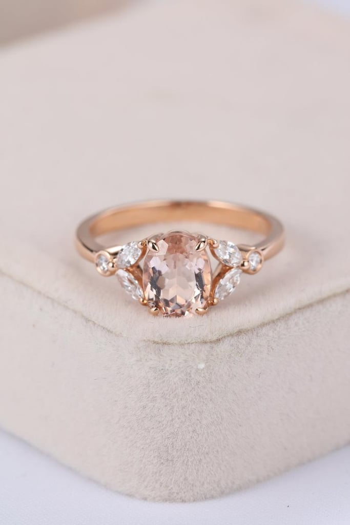 Vintage Morganite Engagement Ring in Rose Gold