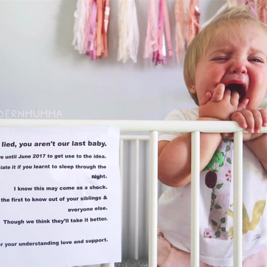 The Modern Mumma Crying Baby Pregnancy Announcement