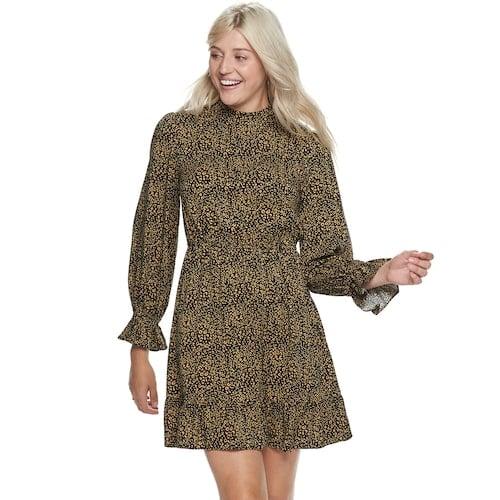 POPSUGAR Mock Neck Mini Dress