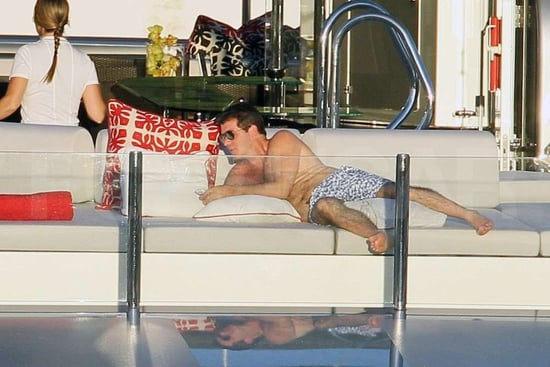 Shirtless Simon Cowell Pictures in St. Barts
