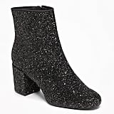 Old Navy Glitter Block-Heel Boots