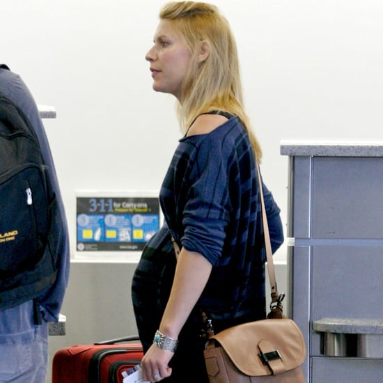 Pregnant Claire Danes at LAX After Emmys | Pictures