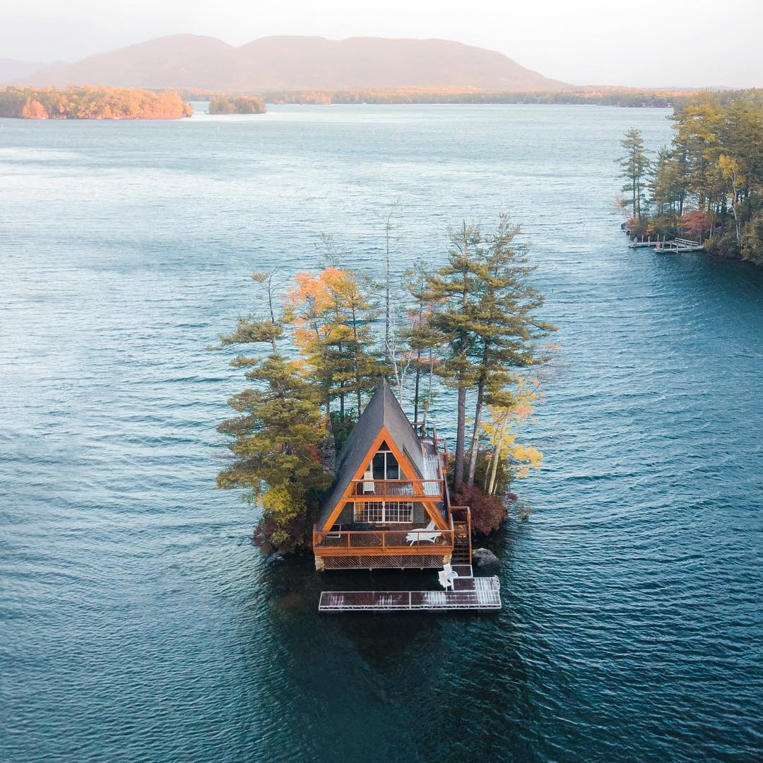 This Cabin in New Hampshire Is on Its Own Island   POPSUGAR Smart ...