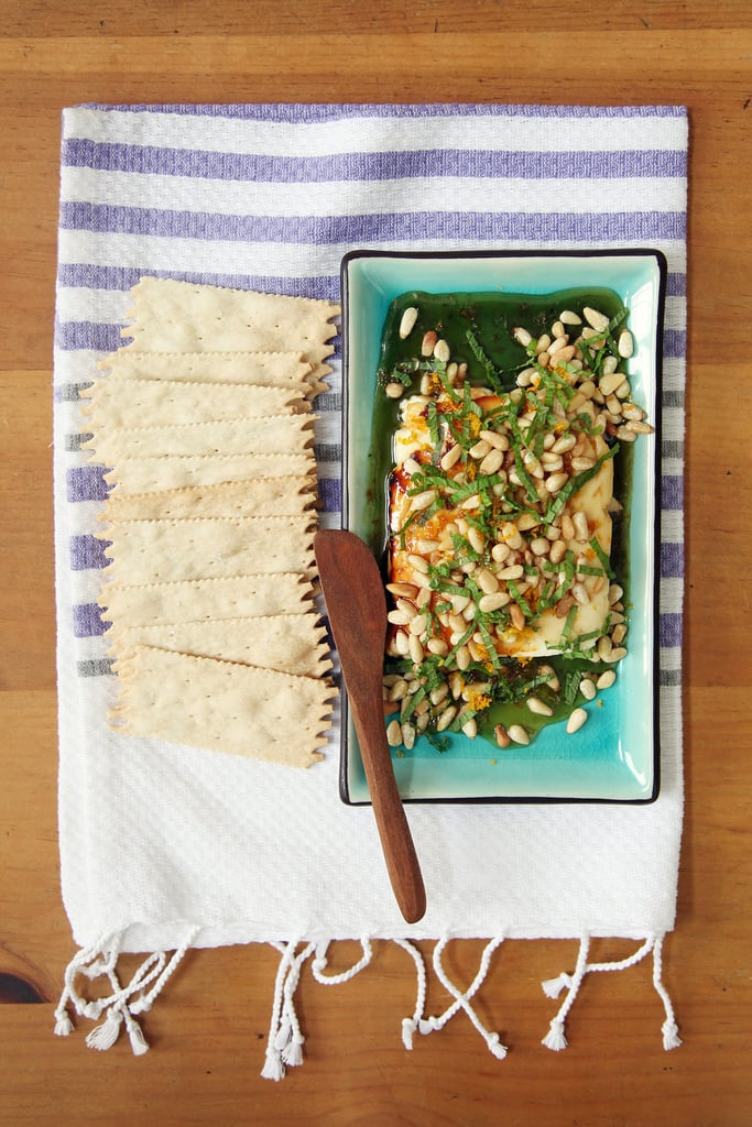 Vegetarian Appetizers: Warm Honey-Drizzled Feta With Pine Nuts