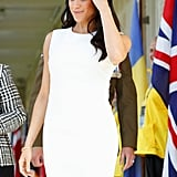 Meghan Markle Karen Gee White Dress Australia October 2018