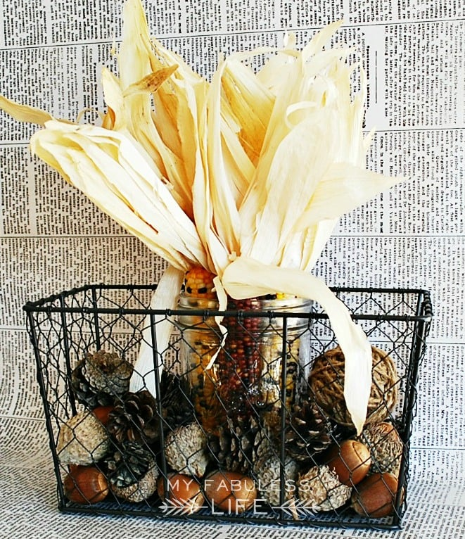 Pine Cone And Corn Accented Mason Jar 12 Gorgeous Mason