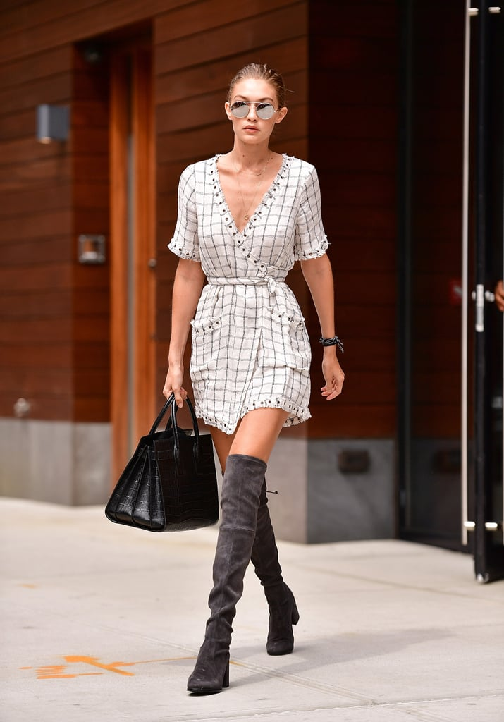 Gigi Wearing Her Boots in Fall 2016