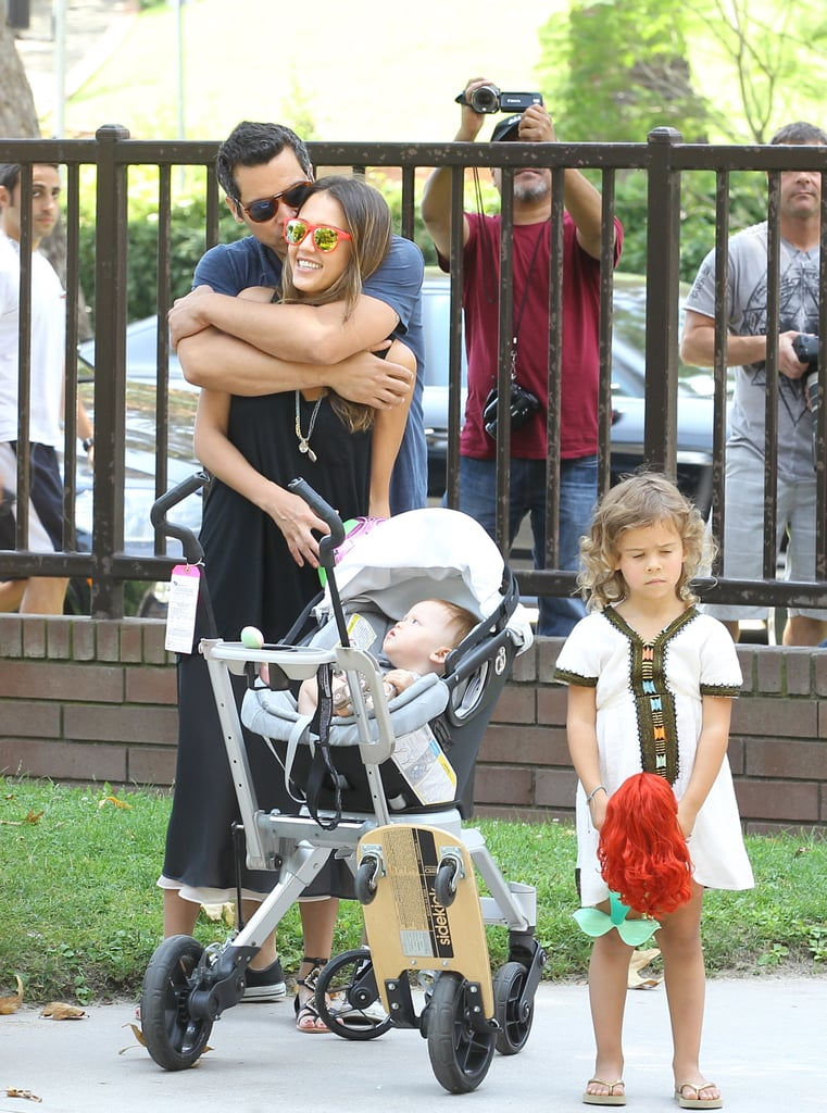 Jessica Alba and Cash Warren Take Their Girls Out For a Family Park Day