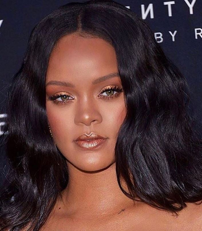 rihanna hair style rihanna s fenty makeup how to popsugar 6140