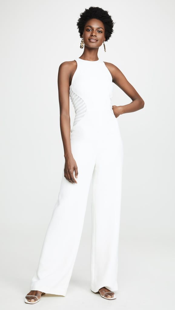 Halston Heritage High-Neck Jumpsuit