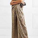 Roland Mouret Draped Metallic Silk-Blend Jumpsuit