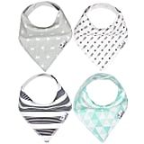 For Infants: Copper Pearl Bandana Drool Bibs