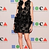 Stephanie Seymour wore Fall 2012 Alexander McQueen at the Yesssss! MOCA Gala 2013 in Los Angeles. Source: Owen Kolasinski/BFAnyc.com