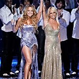Divas united! Mariah Carey and Donatella Versace took the stage together for Swarovski Fashion Rocks.