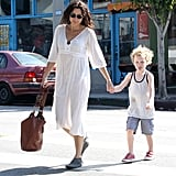 Minnie Driver and her son, Henry, had breakfast in LA.