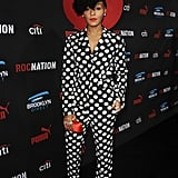 Janelle Monáe showed off her style at the Roc Nation and Three Six Zero brunch.