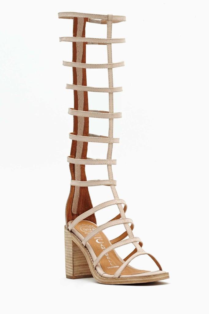Jeffrey Campbell Knee-High Gladiator Sandals