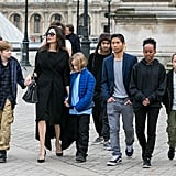 In January 2018, Angelina took the entire brood to the Louvre in Paris.