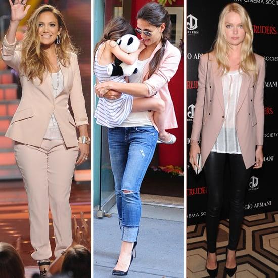 Celebrities Wearing Soft-Pink Blazers   POPSUGAR Fashion