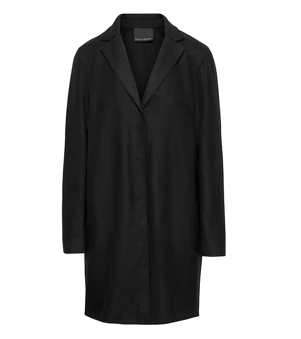 Italian Melton Wool Blend Car Coat