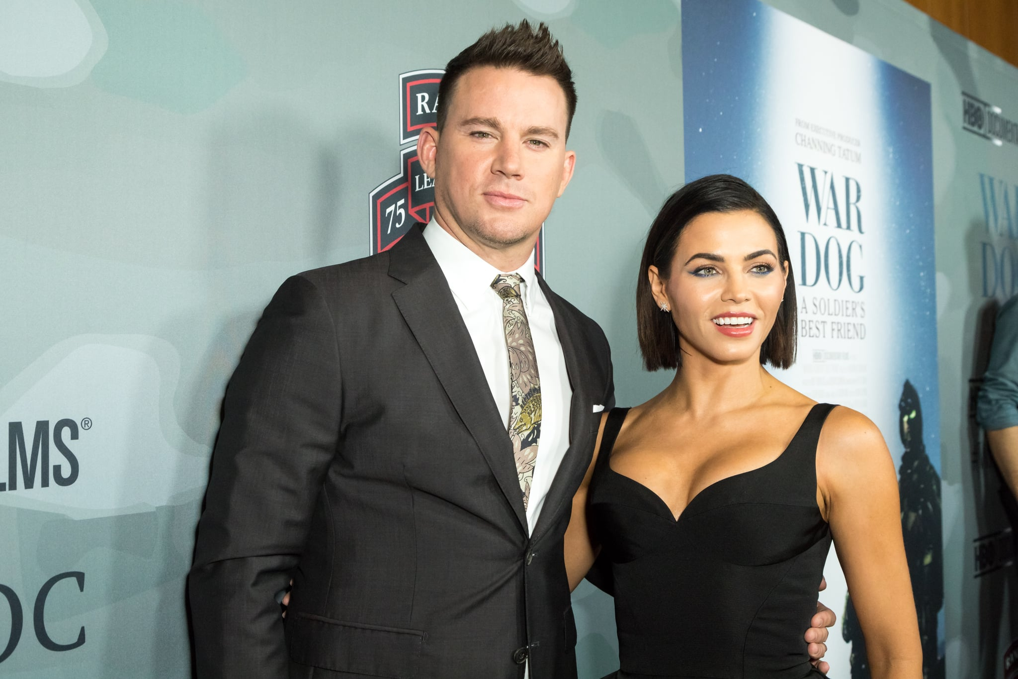 LOS ANGELES, CALIFORNIA - NOVEMBER 06:  Executive Producer Channing Tatum and wife Jenna Dewan Tatum  attend the HBO And Army Ranger Lead The Way Fun Present The Premiere Of