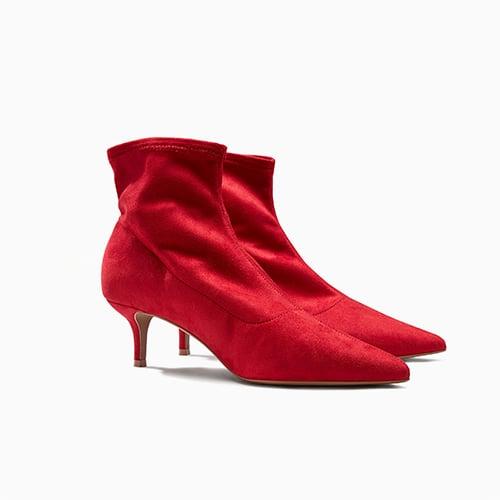 Kitten Heel Sock Boots ($55)