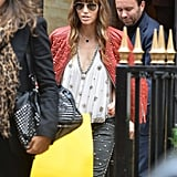 Jessica Biel shopped at the Fendi boutique in Paris.